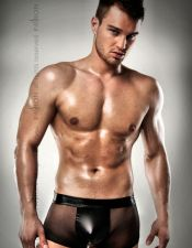Mini boxer de hombre transparente con suspensorio de latex BOX00033