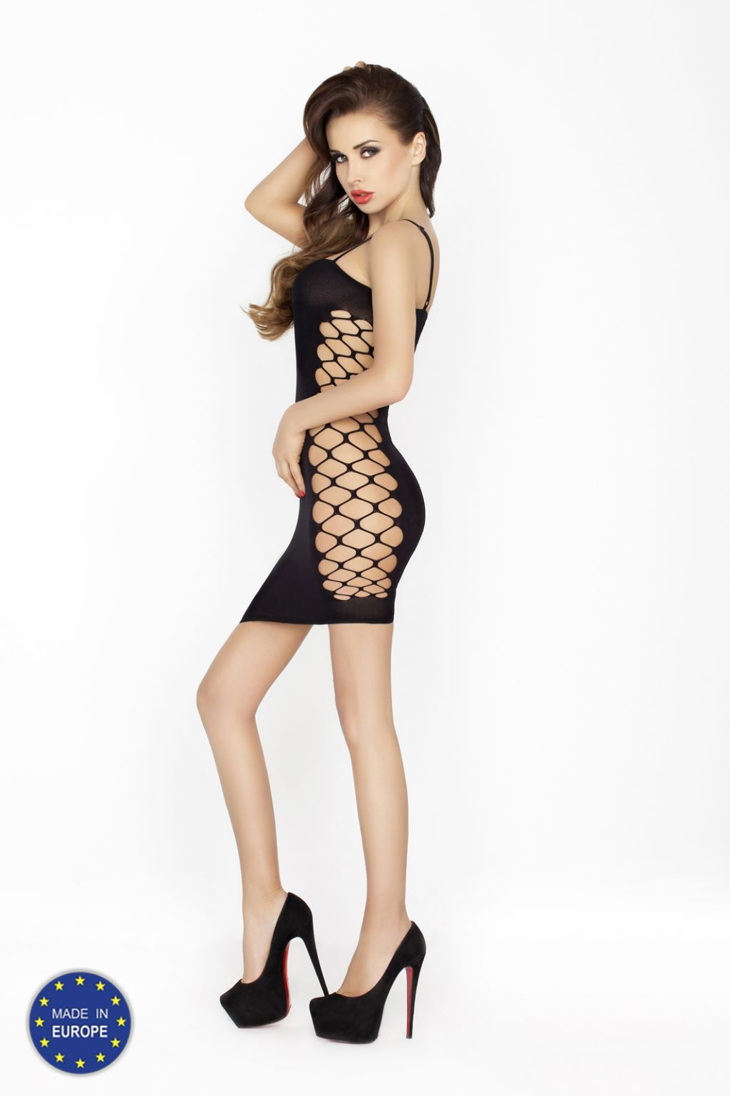 Vestido sexy de nylon de tirante fino