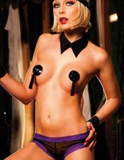 Braguita short negra tipo culotte transparente BDL00097