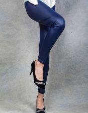 Leggins básicos de vinilo azul oscuro LEG00042