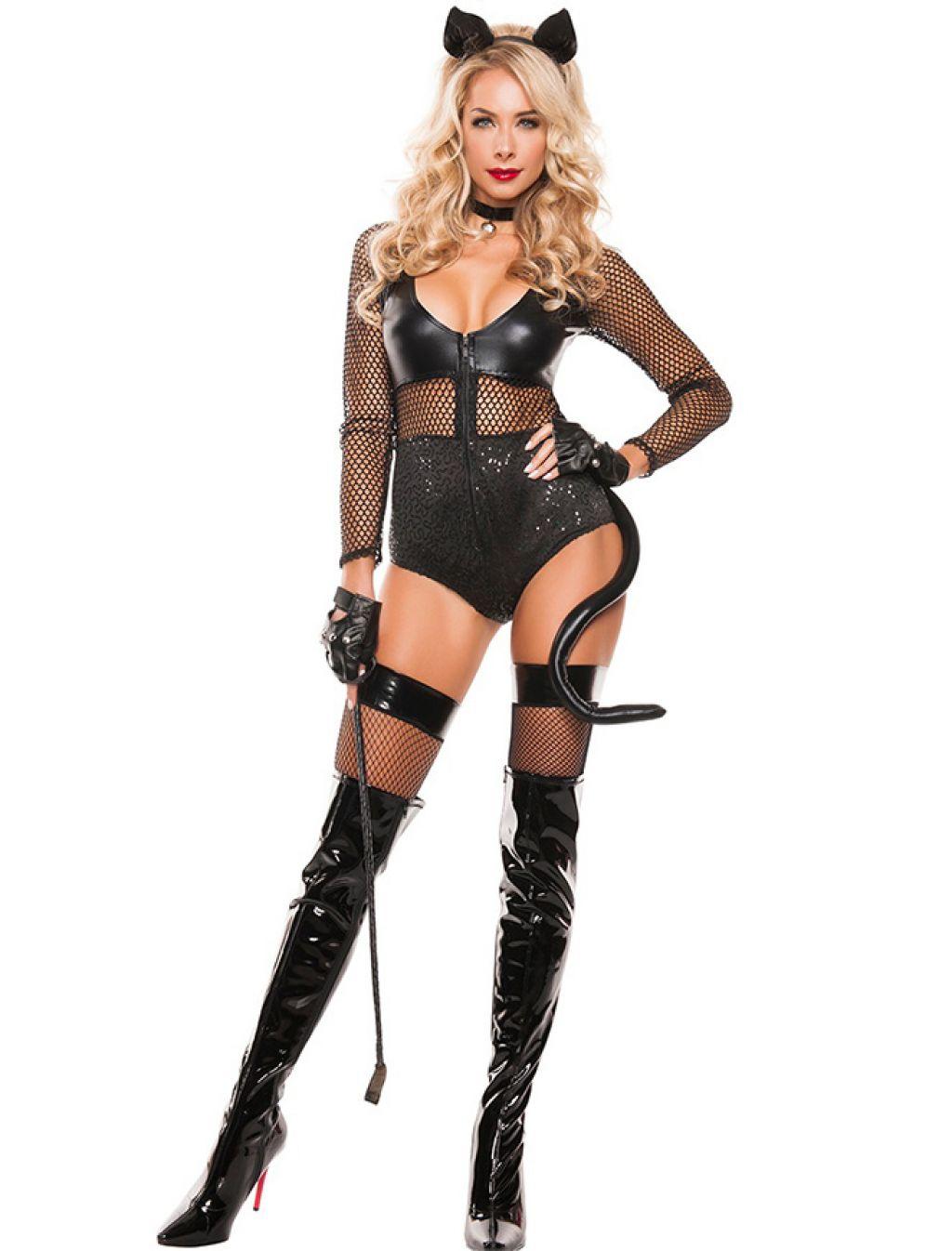 Disfraz de Catwoman de latex super sexy