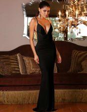 Vestido largo con escote y espalda descubierta VES00205