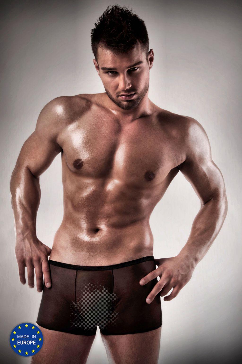 Boxer para hombre ajustado transparente