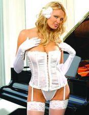 Corsets sexys en color blanco