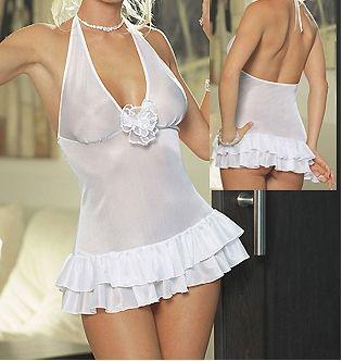 Vestido sexy de ltejido elástico con fibra brillante con volantes y aplique en el pecho