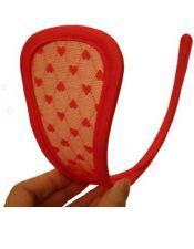 Tanga sexy invisible preformada flexible de microtul con corazones y sin elásticos TAN00019