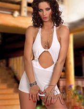 Vestido escotado sexy con hebillas de strass VES00046