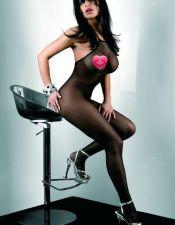 Sensual Bodystocking de redecilla negra BOD00018