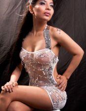 Sensual vestido sexy de microtul con lentejuelas bordadas y tirantes para atar al cuello VES00063