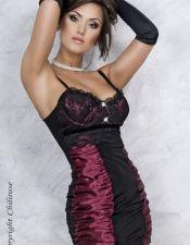 Vestidos sexys en color burdeos